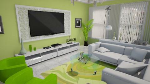 Sala de TV - Classic - Living room - by Cassiane Pires
