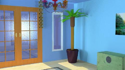 Tropical Hallway - Hallway - by bluecanoe