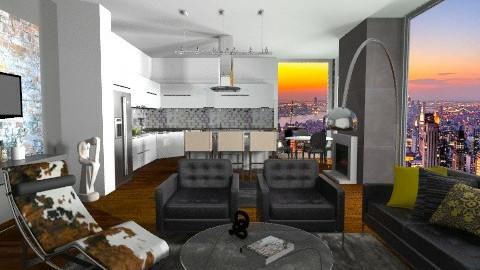 Sunset New York Loft - Modern - Office - by sahfs