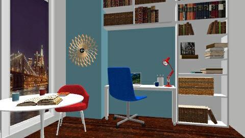 new york study - Modern - Office - by secretsunny
