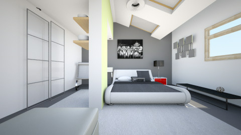 bed p - Retro - Bedroom - by TaxiMarcilla TaxM