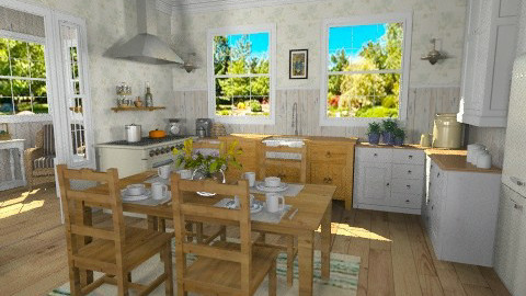 Summer Kitchen - Rustic - Kitchen - by LizyD