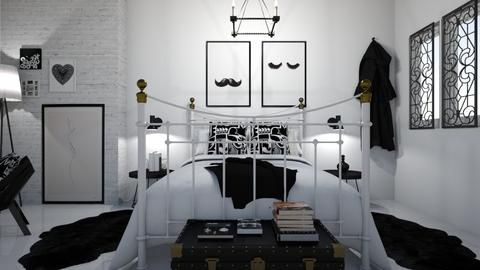 black and white - Modern - Bedroom - by matina1976