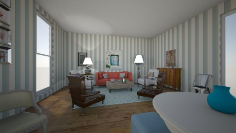 hamptons  - Eclectic - Living room - by dadearin