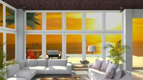 Malibu View - Country - Living room - by jackiefruit