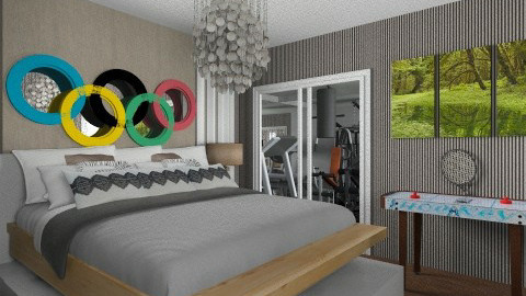 Olympic Room - Glamour - Bedroom - by hannahsdesigns