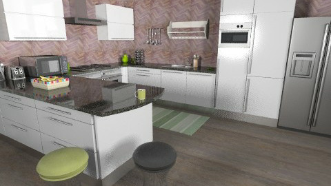 Green grass love - Kitchen - by Marxipan