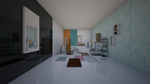 wall color samples bath - Modern - Bathroom - by AngieDrws