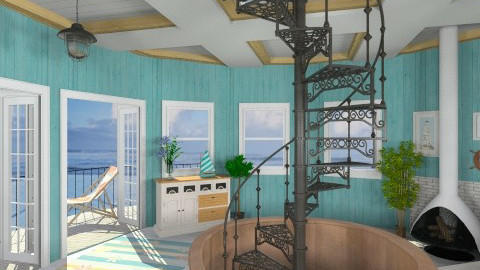 Ocean View - Rustic - Living room - by Bibiche