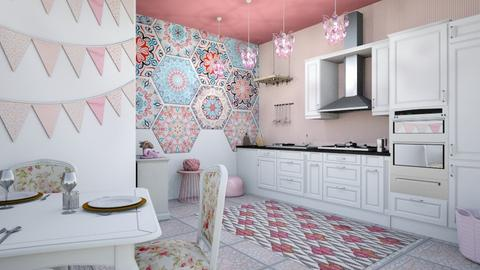 bohemian pink kitchen - Modern - Kitchen - by zayneb_17