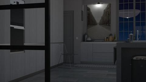 Greyness - Minimal - Kitchen - by HenkRetro1960