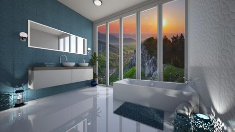 Blue bathroom - Modern - Bathroom - by Denisa250