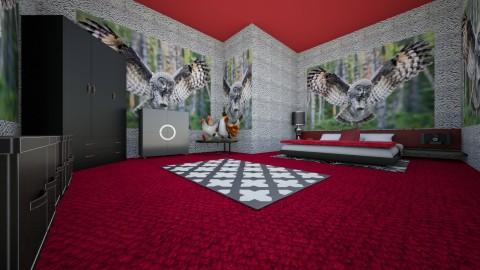 bird bedroom - Bedroom - by TaisiBird