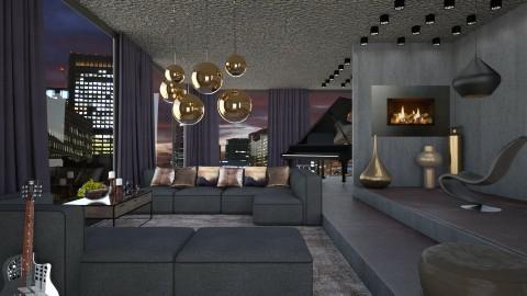 Penthouse night - Modern - Living room - by Liu Kovac