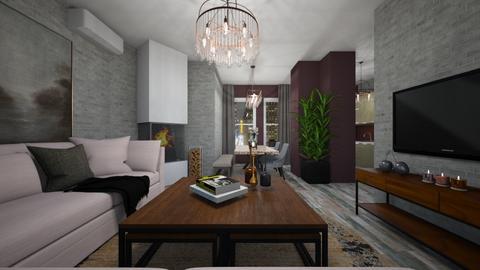 small apartment - Living room - by Grigoria Popli