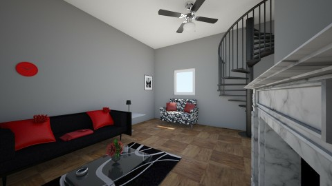 Black and Red Living room - Living room - by Beautifullyinspired
