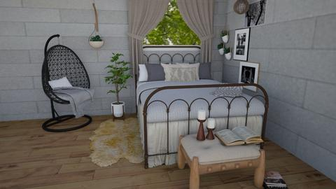 bohemian bedroom - Bedroom - by southern gal 13