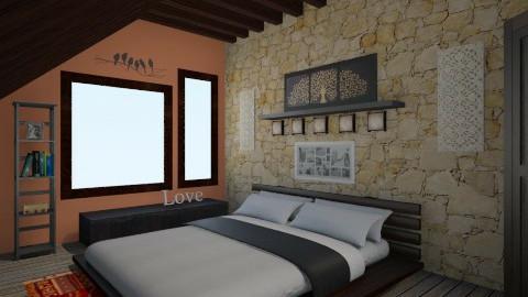 Peace - Vintage - Bedroom - by Elena Heimark