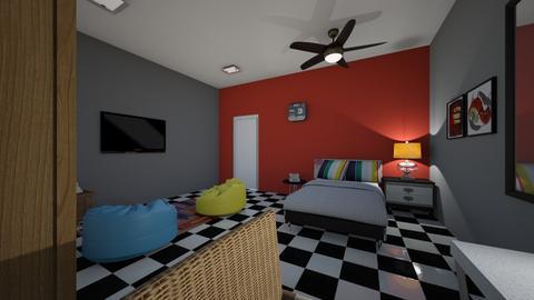teenage room 2 - Bedroom - by fu zi ya