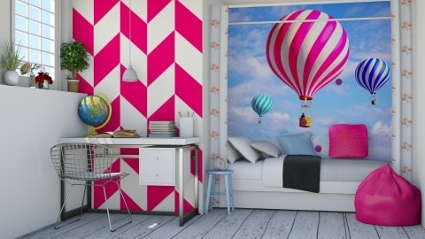Balloon flight - Kids room - by Liu Kovac