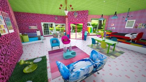Crazy 60 s loft - Retro - Living room - by Moonpearl