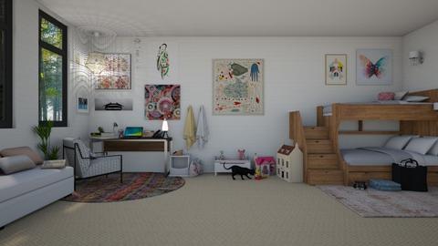 Bunk Bedroom - Bedroom - by Sarah Anjuli Gailey