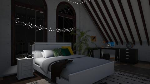 Teen Attic Bedroom  - Bedroom - by stingraygirl