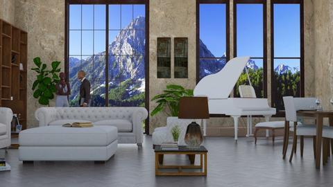 warm tones - Living room - by sephara
