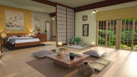 japanese bedroomcalm - Bedroom - by Moonpearl