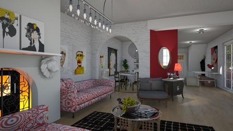 Artists pad - Living room - by The quiet designer