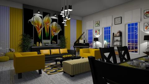 Yellow Touch - Living room - by bigmama14