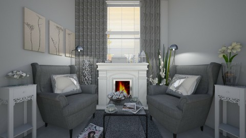 50 shades of gray - Living room - by Nicol2601