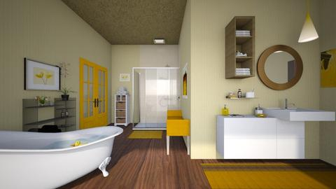 yellow bath - Bathroom - by allday08