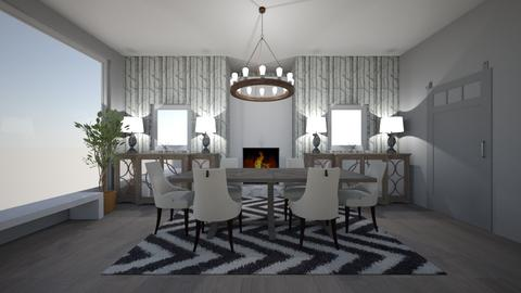 gray wood  - Dining room - by awood23