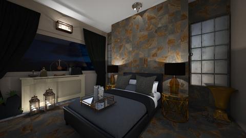 dark comfort - Bedroom - by interiorinterior