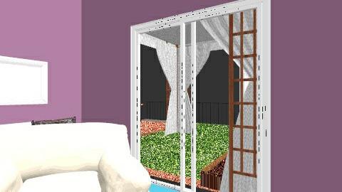 modern bedroom - by kattia