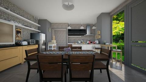 Family Kitchen - Kitchen - by Jhiinyat