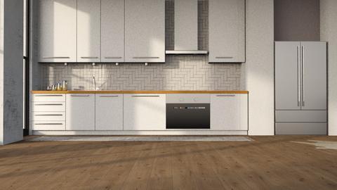 _ARTISAN FLOORING 2_ - Modern - Kitchen - by NEVERQUITDESIGNIT