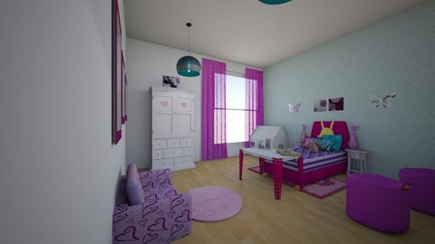 Fuchsia Girls Room - Feminine - Kids room - by NaviDesigns