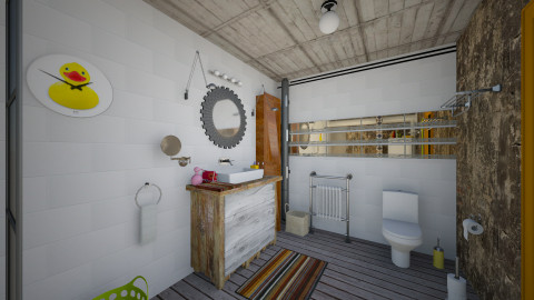 Basement Bathroom_2 - Eclectic - Bathroom - by evahassing