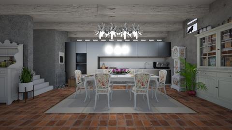 Matilda's eclectic basement kitchen - Kitchen - by Matilda de Dappere