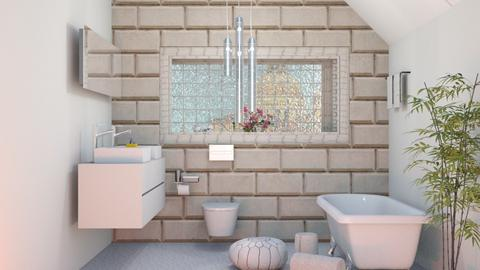 Glass Brick - Bathroom - by elephant in savanna