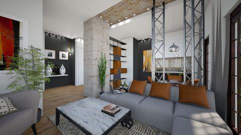Loft - Living room - by bsk Interiordesign