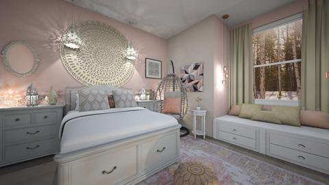Soft Pink - Bedroom - by PandaGraciosa