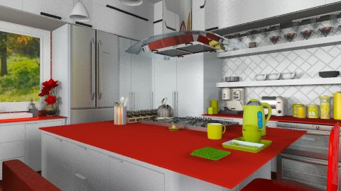 Joyful cooking space - Modern - Kitchen - by Bibiche