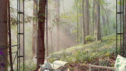 Morning Mist - Country - Garden - by Bibiche