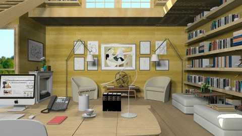 Study room 2 - Modern - Office - by XValidze