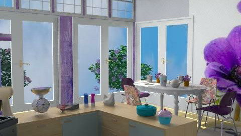 Fifties Fashion Finesse - Retro - Kitchen - by Interiors by Elaine