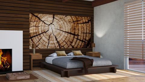 Wooden  Bedroom 2 - Rustic - Bedroom - by Snowbell