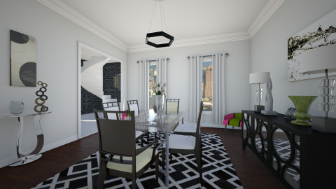 Art Deco Dining Room - Modern - Dining room - by homeiswheredesignis